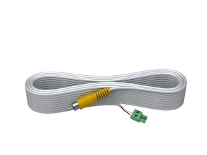 Vision TECHCONNECT SPARE 5M 1-PHONO VIDEO CABLE High-Grade White Installation Cable. A moulded connector on