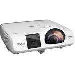 EPSON EB-535W, 3400 LUMENS, WXGA, SHORT THROW, 2X VGA, HDMI, 10,000HR LAMP, USB & LAN