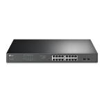TP-LINK JetStream 16-Port Gigabit Easy Smart PoE/PoE+ Switch
