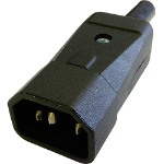 Cablenet IECPLUG275HQ electrical power plug C14 3P Black