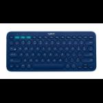 Logitech K380 mobile device keyboard Blue Bluetooth