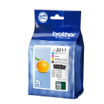 Brother LC-3211VALDR Ink cartridge multi pack, 200 pages, Pack qty 4