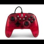 PowerA 1513053 Gamepad Nintendo Switch Analogue USB Red, Translucent