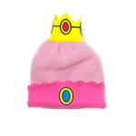 Nintendo Super Mario Bros. Princess Peach Crown Cuffed Beanie, One Size, Pink (KC170220NTN)