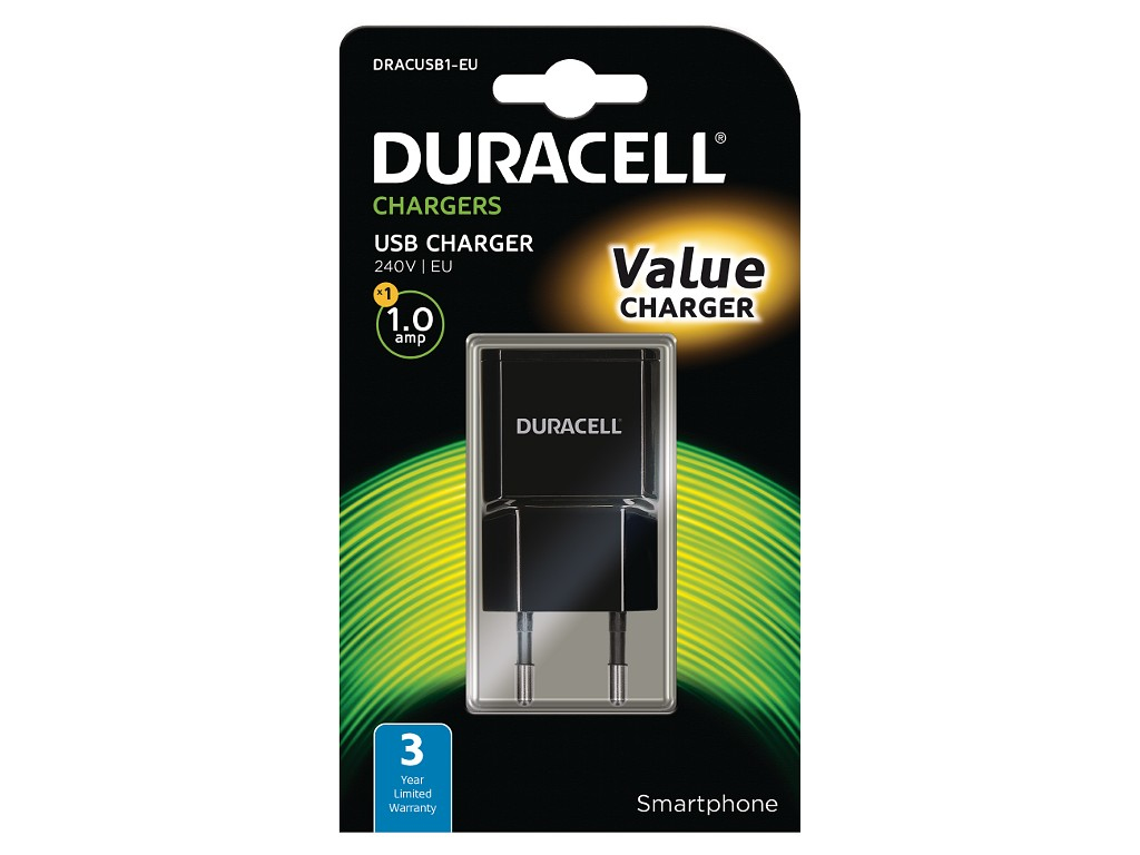 Duracell 1A USB Smartphone Wall Charger