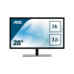 "AOC Value-line U2879VF computer monitor 71.1 cm (28"") 4K Ultra HD LCD Flat Black"