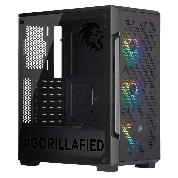 Gorilla Gaming LEVEL: 2.2 - i7 9700K 3.6GHz, 16GB RAM, 256GB NVMe SSD, 1TB, RTX 2060 Super 8GB