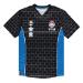 Nintendo Super Mario Bros. Mario Brick Print Sports Jersey T-Shirt, Male, Large, Black/Blue (TS142040NTN-L)