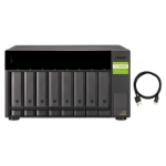 "QNAP TL-D800C storage drive enclosure 2.5/3.5"" HDD/SSD enclosure Black, Grey"