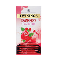 TWININGS CRN/RASP ELDER INFU TEA PK20