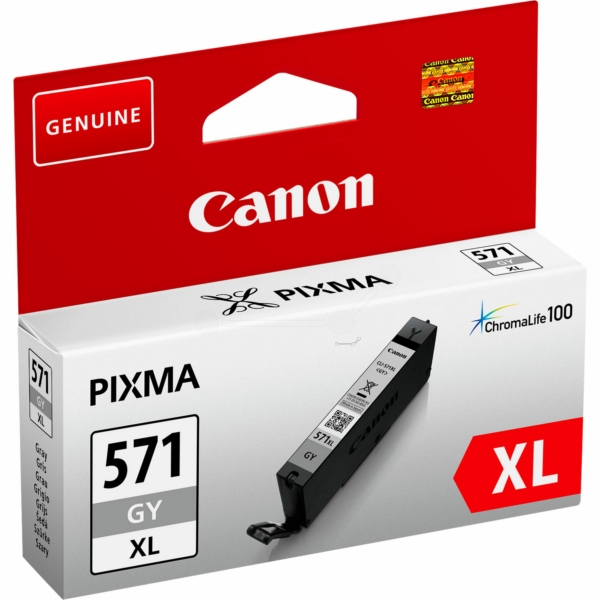 Canon 0335C001 (CLI-571 GYXL) Ink cartridge gray, 3.35K pages, 11ml