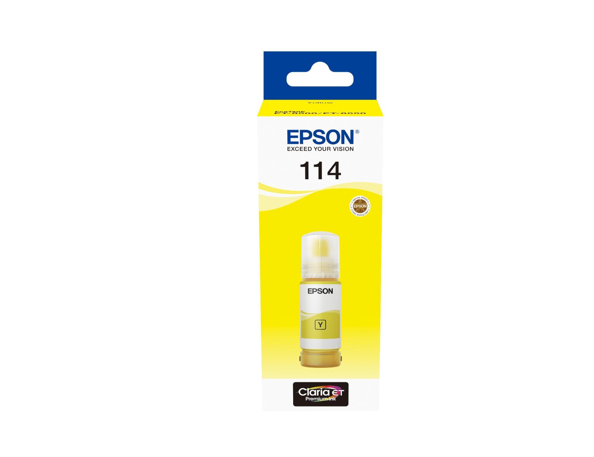 Epson C13T07B440 (114) Ink cartridge yellow, 70ml