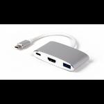 LMP 15090 Schnittstellenhub USB 3.2 Gen 2 (3.1 Gen 2) Type-C 5000 Mbit/s Silber, Weiß