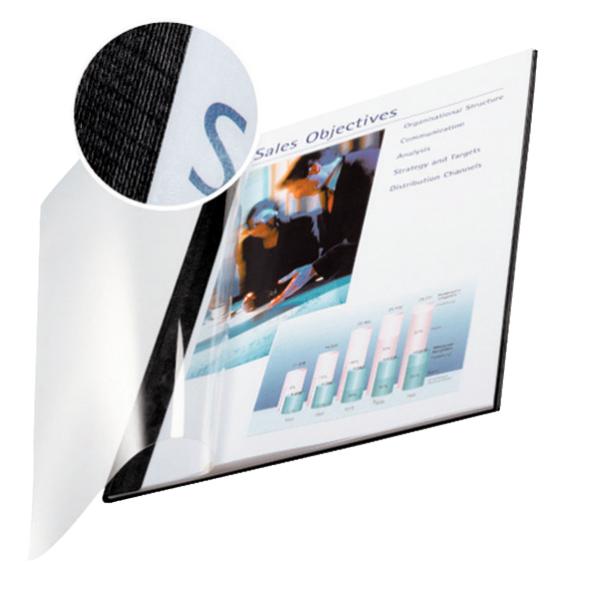 LEITZ IMPRESSBIND A4 CARDBOARD,POLYETHYLENE TEREPHTHALATE (PET) BLACK,TRANSPARENT