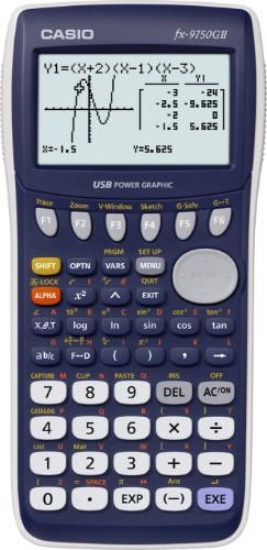 Casio FX-9750GII calculator Desktop Graphing Blue