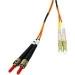 C2G 7m LC/ST LSZH Duplex 62.5/125 Multimode Fibre Patch Cable