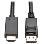 Tripp Lite DisplayPort 1.2 to HD Active Adapter Cable, DP with Latches to HDMI (M/M), UHD 4K x 2K / 1080p, 0.91 m (3-ft.)