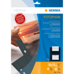 HERMA Fotophan transparent photo pockets 10x15 cm landscape black 10 pcs.