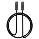 "Siig CB-TB0011-S1 Thunderbolt cable 39.4"" (1 m) Black 40 Gbit/s"