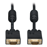 Tripp Lite VGA Coax Monitor Cable, High Resolution Cable with RGB Coax (HD15 M/M), 4.57 m (15-ft.)