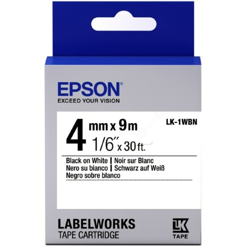 Epson C53S651001 (LK-1WBN) Ribbon, 4mm x 9m