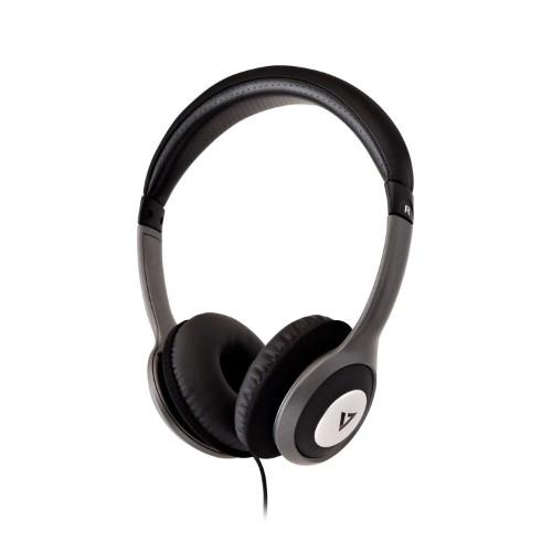 V7 HA520-2EP headphones/headset Head-band Black,Silver
