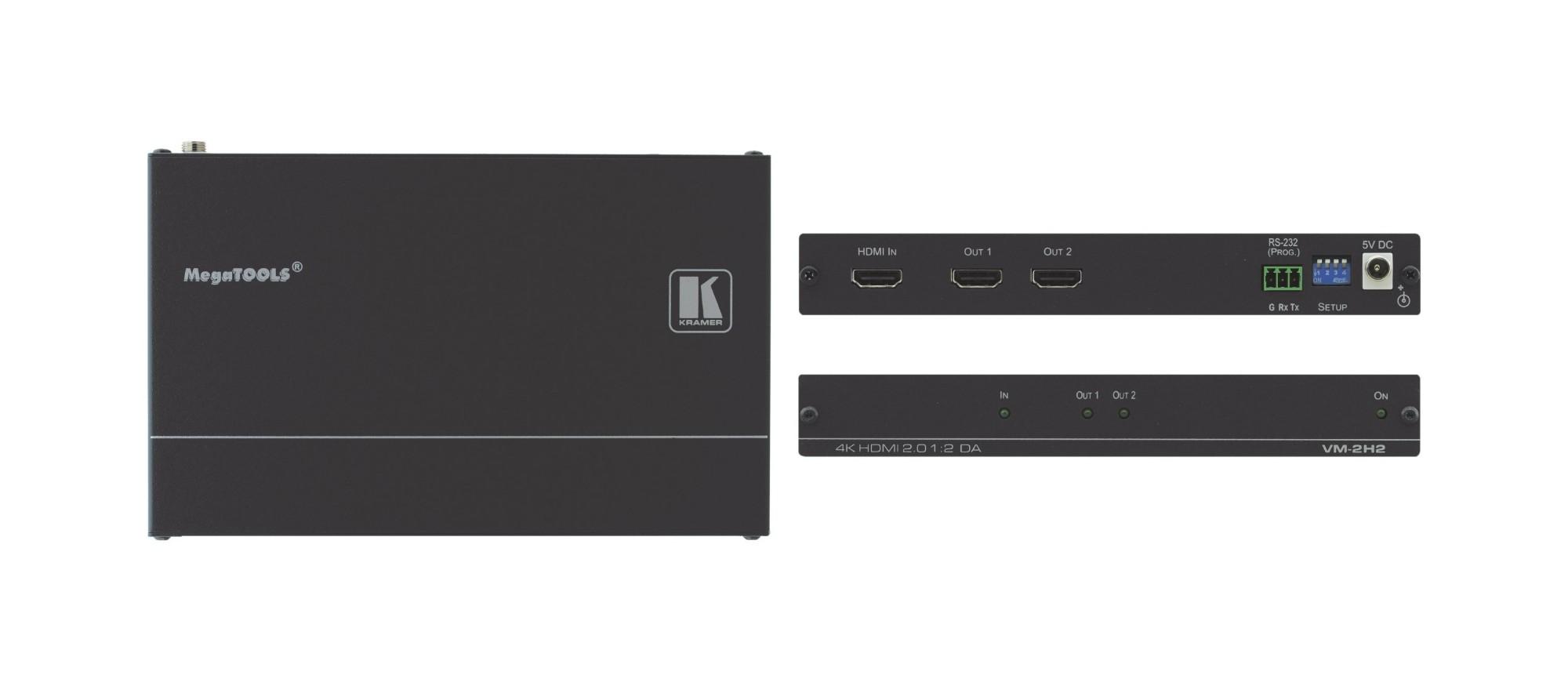 Kramer Electronics VM-2H2 video line amplifier Black
