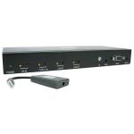 Tripp Lite B320-4X1-MHB-K AV extender AV repeater Black