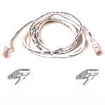Belkin Cable Patch Cat6 RJ45 Snagless White 1m 1m White networking cable