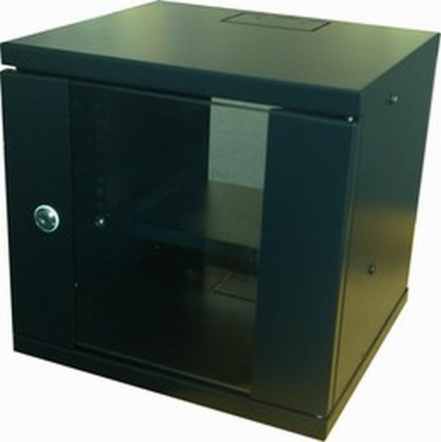 "Eco NetCab 4U 300mm 10"" Data / Comms / Rack Wall Cabinet (SOHO) - Black"