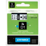 DYMO D1 Standard - Black on White - 19mm label-making tape