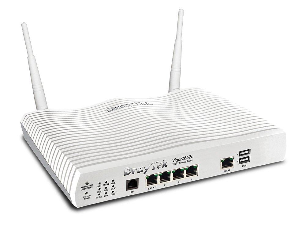 Draytek Vigor 2862n wireless router Dual-band (2.4 GHz / 5 GHz) Gigabit Ethernet White