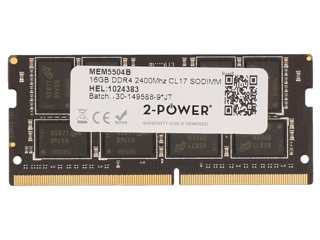 2-Power 16GB DDR4 2400MHz CL17 SODIMM Memory - replaces Y7B54AA