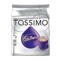 KENCO TASSIMO CADBURY HOT CHOCOLATE PK5X8