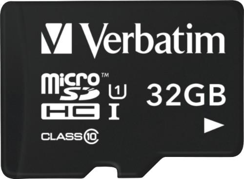 Verbatim Tablet U1 microSDHC Card with USB Reader 32GB memory card