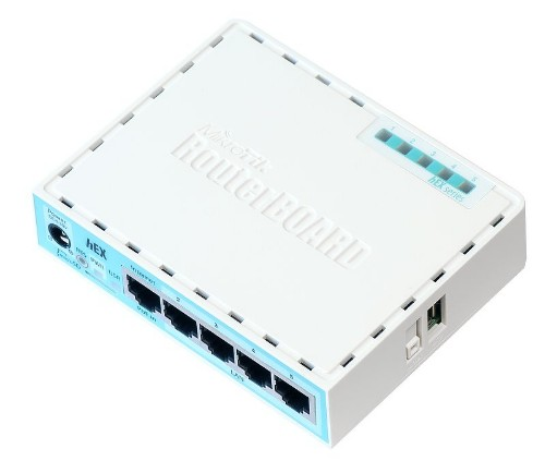 Mikrotik RB750GR3 wired router Gigabit Ethernet Turquoise, White
