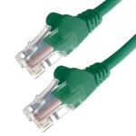 Connekt Gear 1M Green RJ45 UTP CAT 5e Stranded Flush Moulded Snagless Network Cable 24AWG