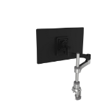 R-Go Tools R-Go Zepher 4 C2, Circular Single Monitor Arm Desk Mount, Adjustable, 0-8 kg, Black-Silver, Low Carbon Footprint