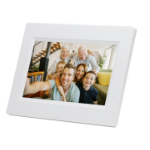 "Denver PFF-710WHITE digital photo frame 17.8 cm (7"") Touchscreen Wi-Fi White"