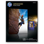 HP Advanced Glossy -25 sht/13 x 18 cm borderless photo paper