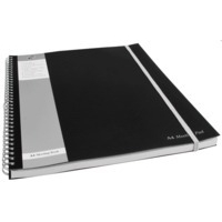 Pukka Pukka Pad A4 Plus Wirebound Polypropylene Cover Meeting Pad Ruled 160 Pages Ruled Black (Pack 3)