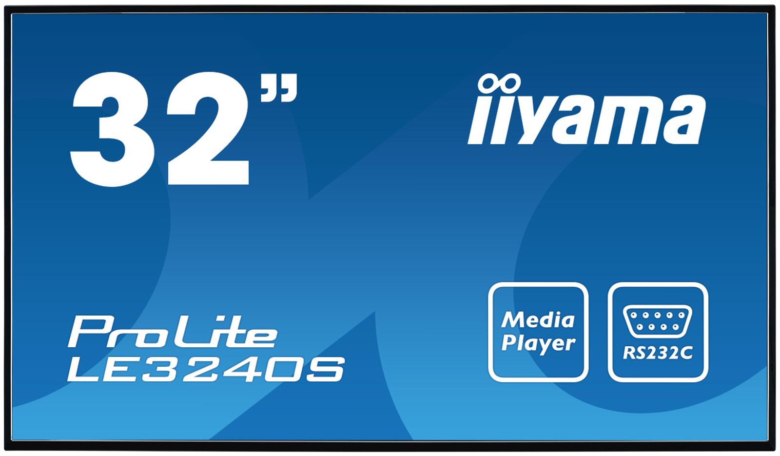 """iiyama LE3240S-B2 signage display Digital signage flat panel 80 cm (31.5"""") VA Full HD Black"""