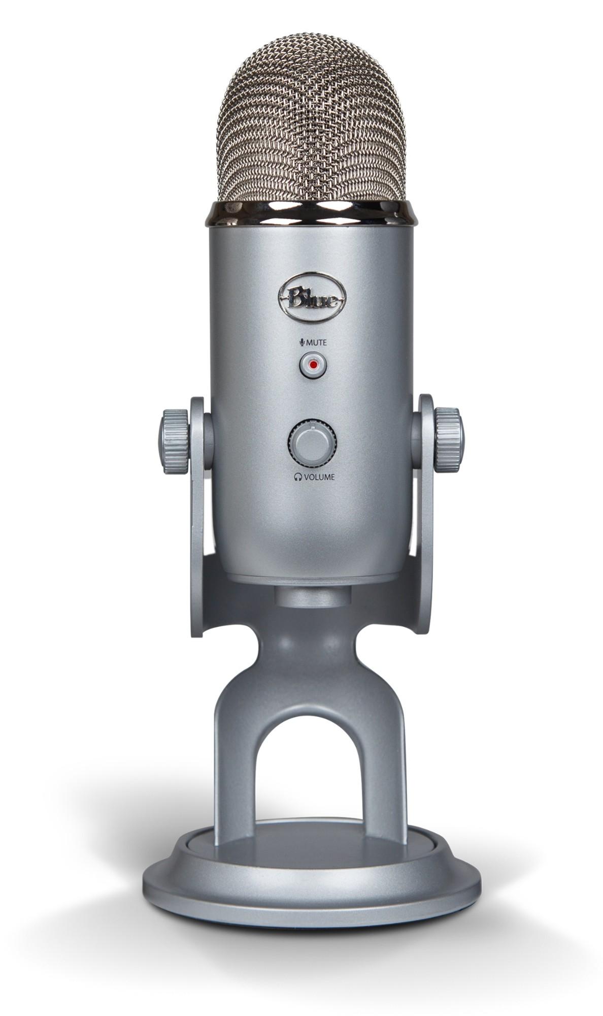 Blue Microphones Yeti Micrófono de superficie para mesa Azul, Plata