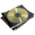 Fellowes 98310 Jewel case 2 discs Black, Transparent