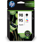 HP 98 Black/95 Tri-color 2-pack Original Ink Cartridges