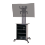 Metroplan Mitre conference Portable device management cart Graphite