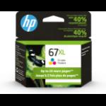HP 67XL ink cartridge 1 pc(s) Original High (XL) Yield Cyan, Magenta, Yellow