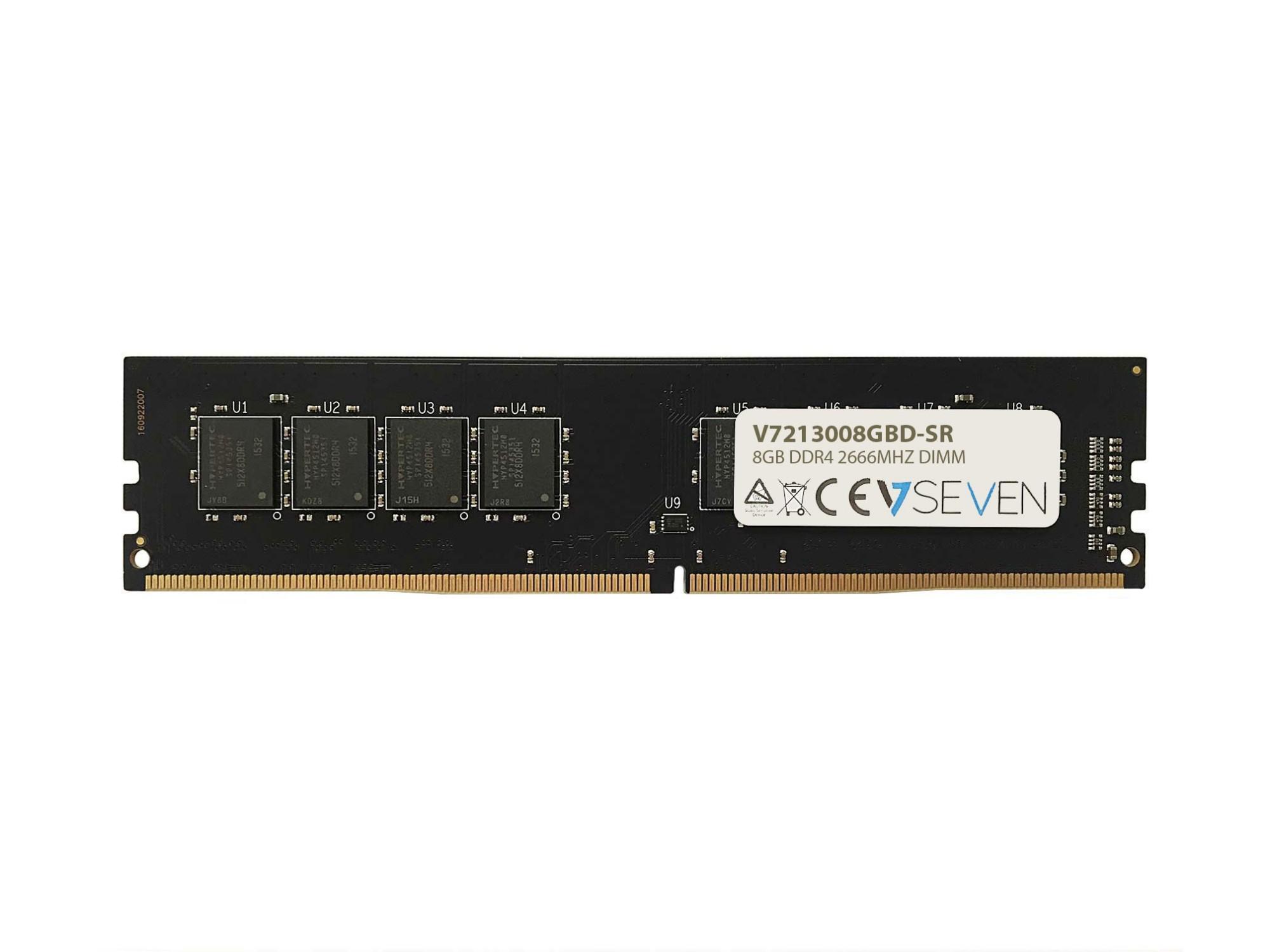 V7 8GB DDR4 PC4-21300 - 2666MHZ 1.2V DIMM Módulo de Memoria Ordenador Personal - V7213008GBD-SR