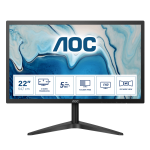 """AOC B1 22B1HS computer monitor 54.6 cm (21.5"""") 1920 x 1080 pixels Full HD LED Black"""
