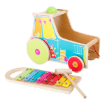 LEGLER Small Foot Children's Wooden Motor Activity Tractor with Xylophone Toy, Unisex, Ages Two Years and A